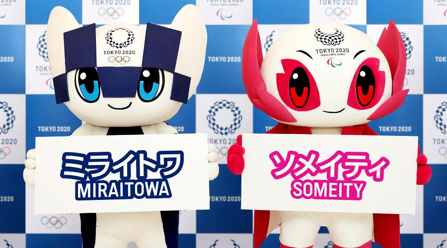 Талисманы Олимпиады и Паралимпиады 2020 года в Токио Мирайтова и Сомэйти ©Фото с сайта tokyo2020.org