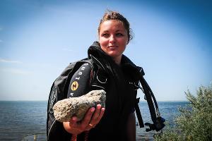 Находка отряда водолазов в Фанагорийском археологическом комплексе ©Елена Синеок, ЮГА.ру