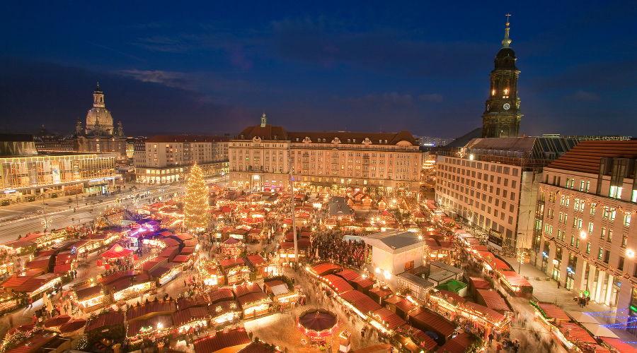 Рождественская ярмарка в Германии ©Фото с сайта commons.wikimedia.org