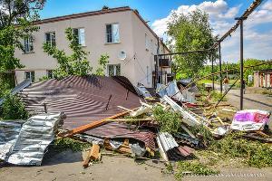 Последствия стихии в Зеленокумске ©Фото со страницы vk.com/sarafannoeradiokmv