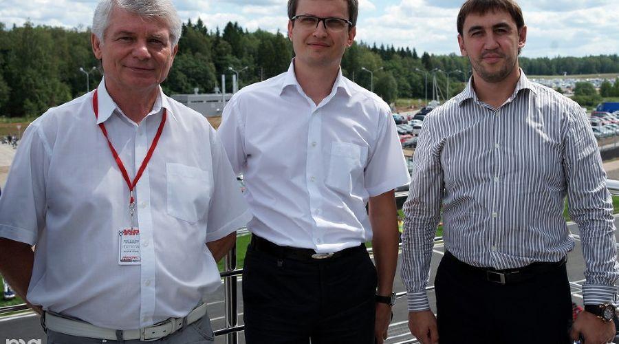 М.Капирулин, А.Богданов, О.Забара на открытии автодрома Moscow Raceway ©Фото Юга.ру