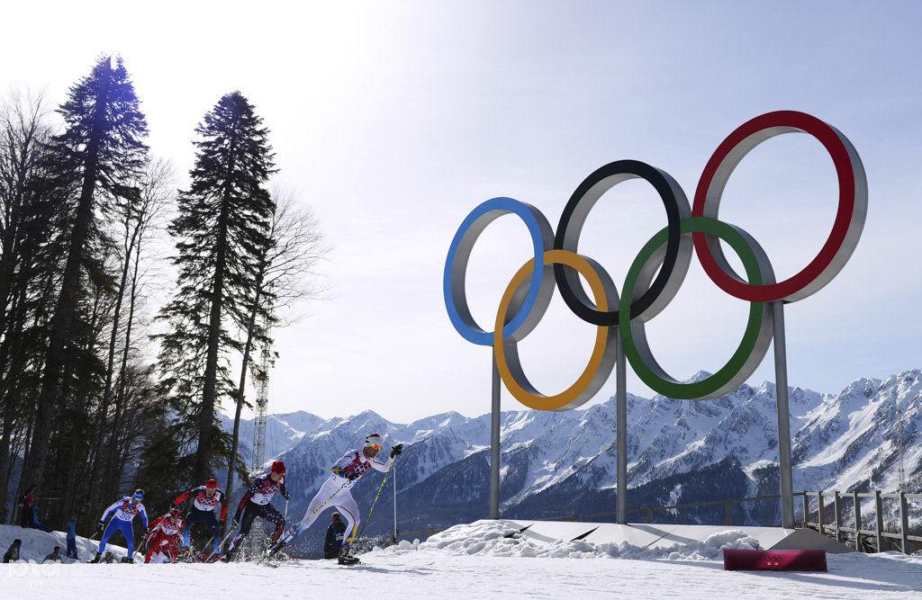 Россияне заняли весь пьедестал по итогам лыжного марафона на Играх в Сочи ©РИА «Новости»