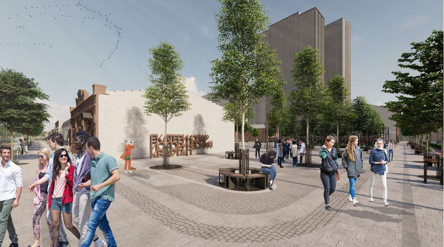 Проект исторического квартала в центре Краснодара ©Презентация с сайта администрации Краснодара, krd.ru