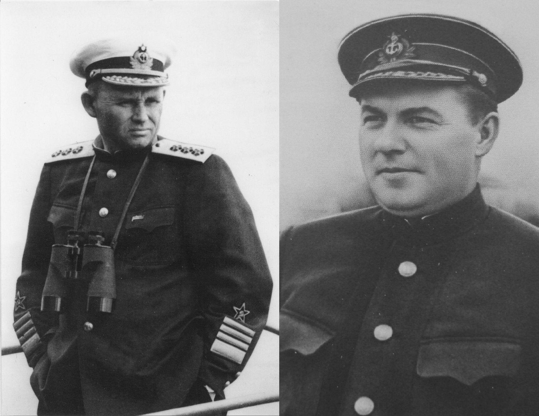 Два командующих Черноморским флотом, вице-адмиралы Ф.С. Октябрьский и Л.А. Владимирский ©Фото с сайта http://waralbum.ru