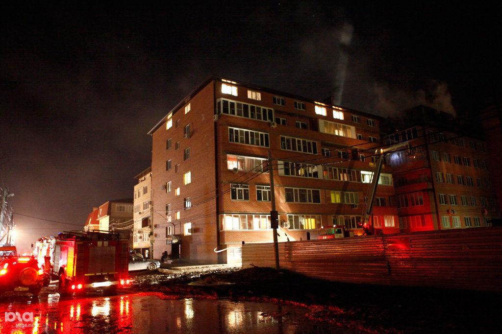 Пожар в  6-этажном жилом доме на ул. Концевича, 4
