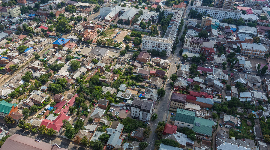 Центральная часть Краснодара ©Фото архитектурной мастерской Щербинина