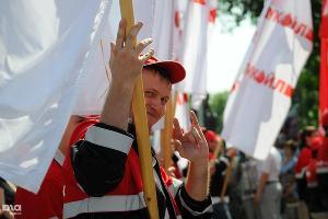 Первомайская демонстрация в Краснодаре ©Елена Синеок. ЮГА.ру