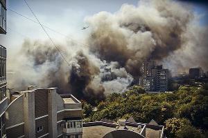Пожар в Ростове-на-Дону ©Фото со страницы instagram.com/henry_boatman/