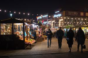 Новогодняя ярмарка в торговом квартале «Центр города» в Краснодаре ©Фото Елены Синеок, Юга.ру