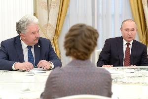 Встреча Владимира Путина с кандидатами в президенты РФ ©Фото пресс-службы Кремля