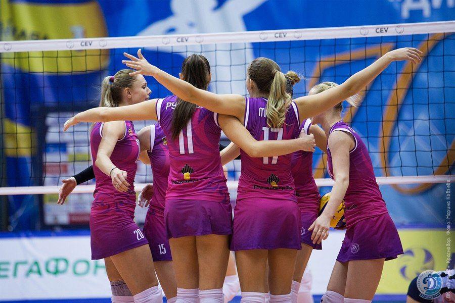 Волейболистки краснодарского «Динамо» разгромили саратовский «Протон»