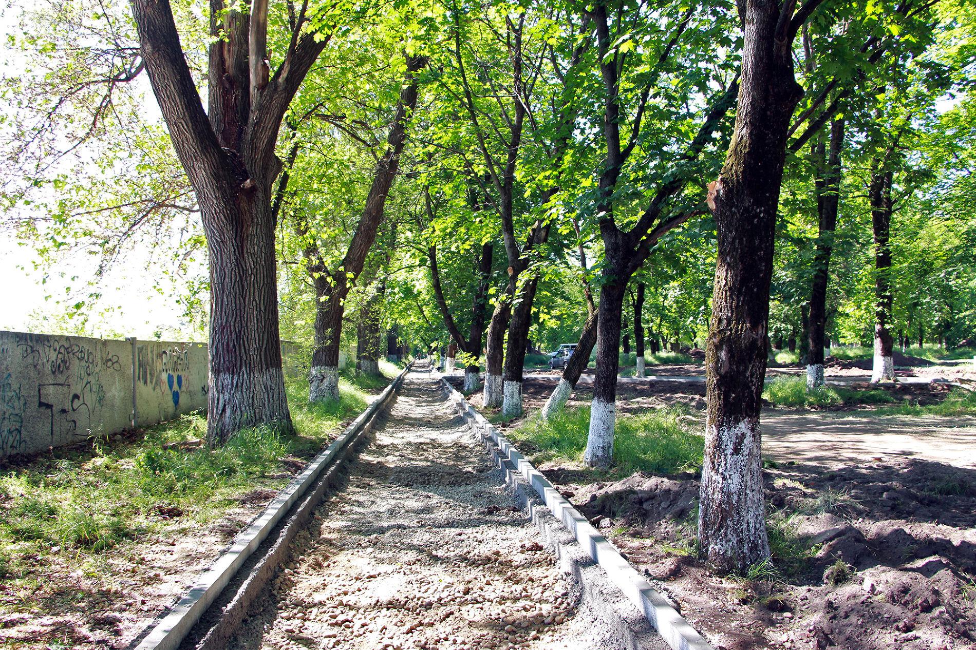 Начало реконструкции парка им. Семыкина ©Фото пресс-службы Тбилисского района