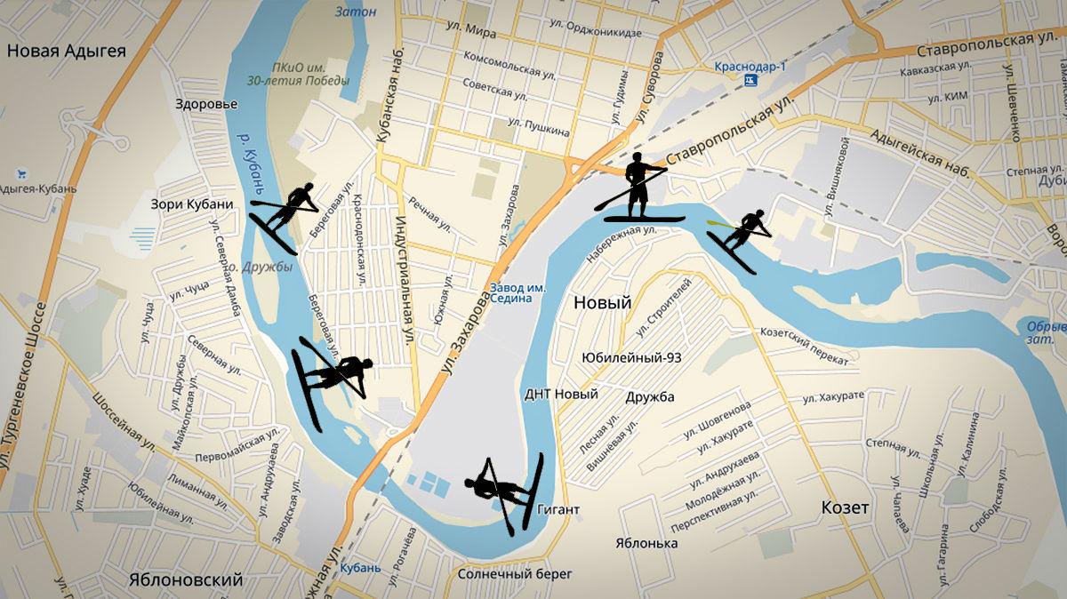 Сапсерфинг. Как выход из ситуации ©Графика «Яндекс.Карты»