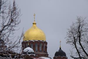 Снег в Краснодаре. Свято-Екатерининский кафедральный Собор ©Елена Синеок, Юга.ру