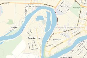 Примерное расположение новой дороги в ЮМР ©Скриншот с сервиса «Яндекс.Карты»