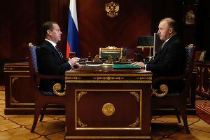 Дмитрий Медведев и Мурат Кумпилов ©Фото пресс-службы главы Республики Адыгея