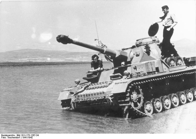 Немецкий танк Panzerkampfwagen IV, Греция, 1941 год