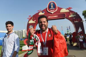 Фанаты на чемпионате мира по футболу в Сочи ©Фото Елены Синеок, Юга.ру