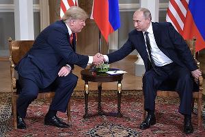 Дональд Трамп и Владимир Путин ©Фото пресс-службы Кремля