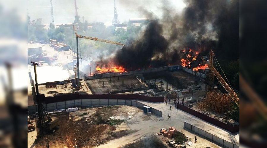 Пожар в Ростове-на-Дону ©Фото со страницы instagram.com/dem84rus
