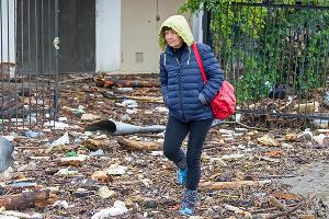 Последствия ливней и подтоплений в Туапсе, 25 октября 2018 г. ©Фото Владислава Щеколдина, Юга.ру