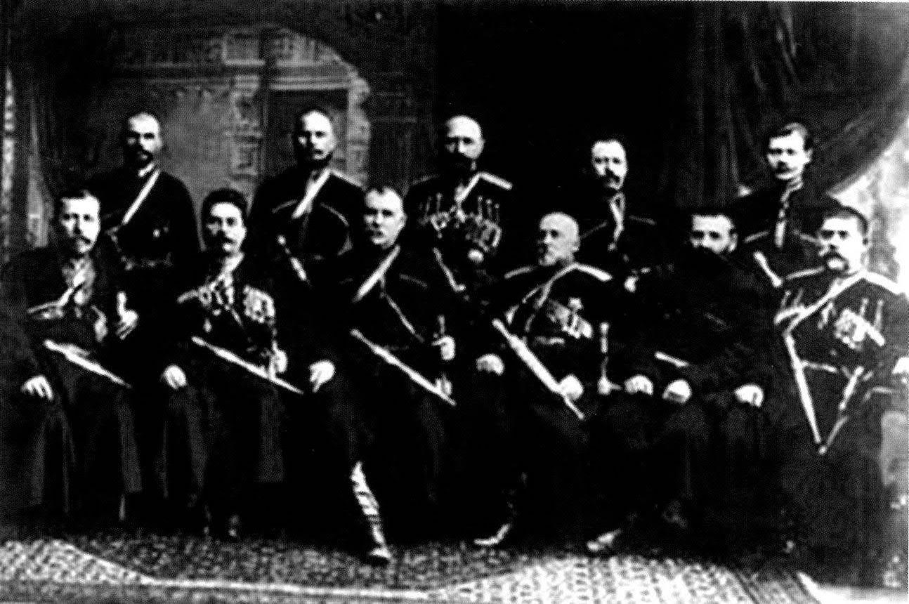 Правление Черноморско-Кавказской железной дороги. Кондрат Бардиж — второй справа. Около 1914 г.