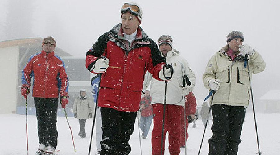 Путин на Красной Поляне (2007). Фото: пресс-служба президента РФ ©Фото Юга.ру