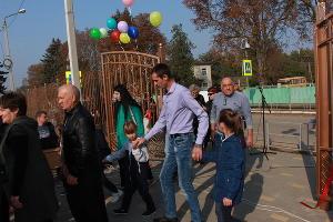 Открытие парка в Ловлинской ©Фото пресс-службы Тбилисского района