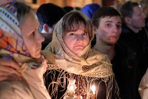 Пасхальная служба в Екатерининском кафедральном соборе ©Фото Юга.ру