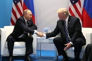 Владимир Путин и Дональд Трамп ©Фото пресс-службы администрации президента РФ