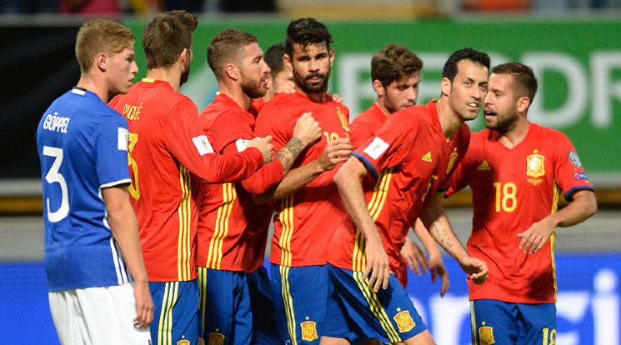 Сборная Испании по футболу ©Фото с сайта ru.fifa.com