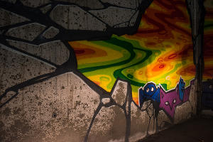 Роспись на подземной парковке, ЧМР ©Фото Елены Синеок, Юга.ру