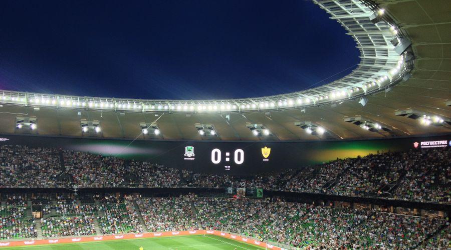 Матч чемпионата России «Краснодар» — «Анжи» ©Фото Юга.ру