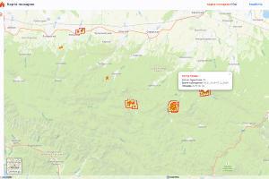©Скриншот страницы сервиса «Карта пожаров», fires.ru