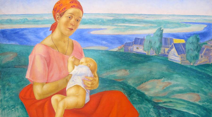 Картина Кузьмы Петрова-Водкина «Мать» ©Фото Франческо Бини с сайта wikimedia.org