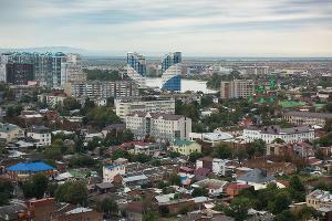 Панорамы Краснодара с отеля Marriott ©Фото Елены Синеок, Юга.ру
