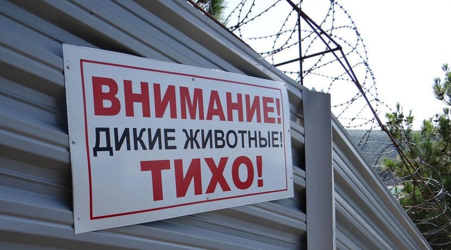Объявление на заборе «дачи Ткачева» ©Фото Экологической Вахты по Северному Кавказу, ewnc.org