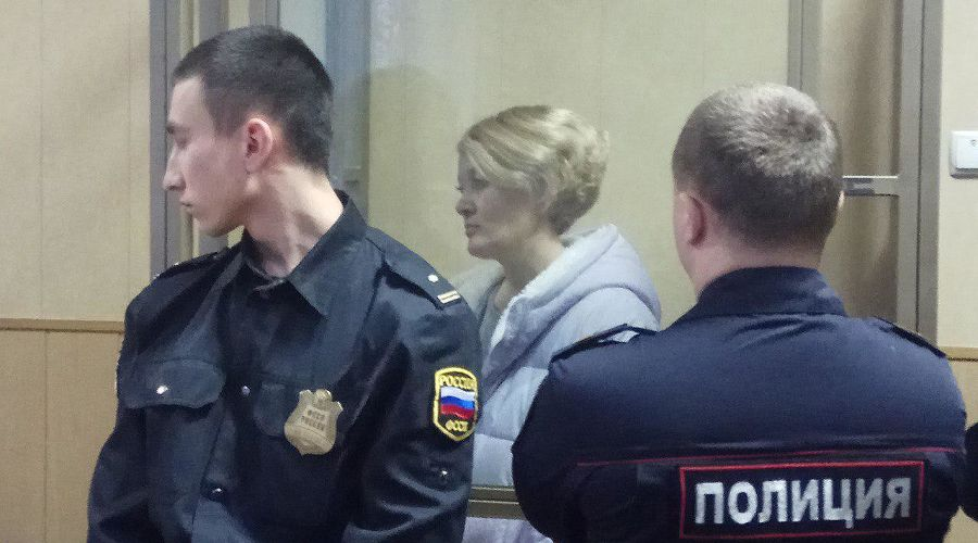 Анастасия Шевченко в суде ©Фото со страницы «Правозащита Открытки», vk.com/lawopr