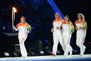Церемония открытия XXII зимних Олимпийских игр в Сочи. Алина Кабаева ©РИА Новости