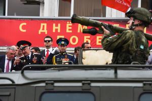 Парад в честь 73-й годовщины Великой Победы в Краснодаре ©Фото Елены Синеок, Юга.ру
