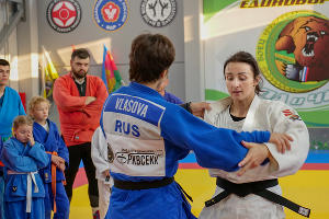 Ирина Заблудина во время тренировки ©Фото пресс-службы ЦСЕ «Боец»