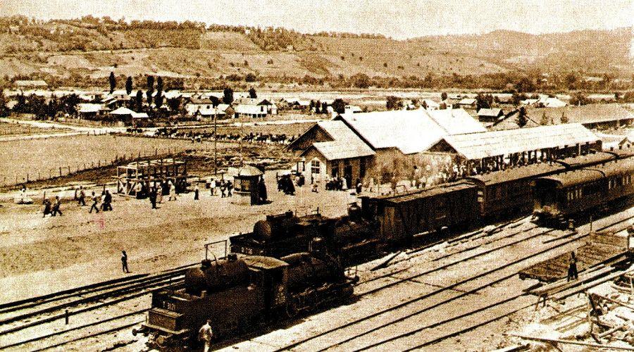Вокзал Сочи в 1920-е годы ©Фото пресс-службы СКЖД