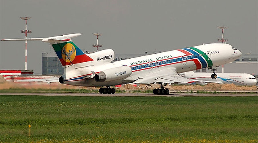 "Ту-154 компании ""Авиалинии Дагестана"" ©Фото Юга.ру"