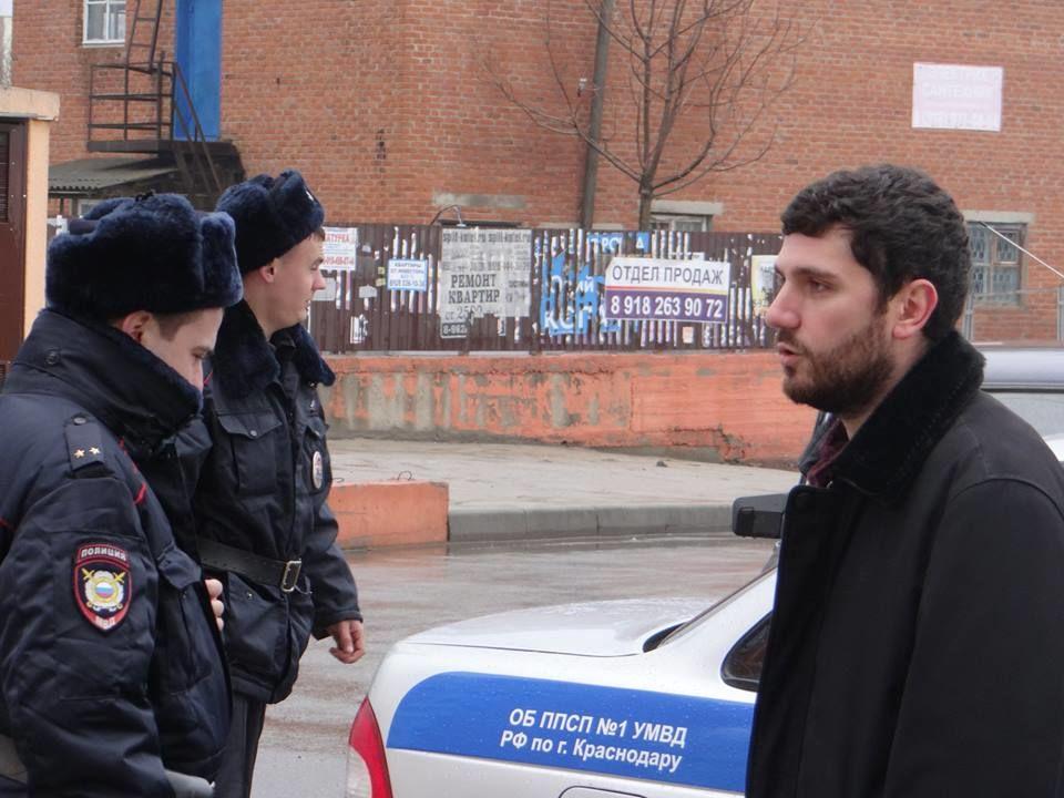 ВКраснодаре перед лекцией офальсификации выборов схвачен координатор «Голоса»