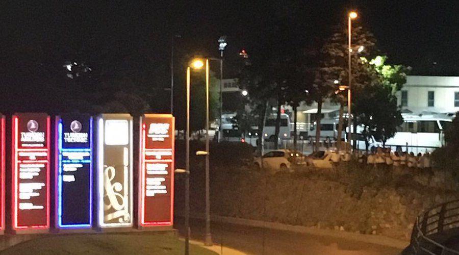 Район аэропорта Ататюрк, Стамбул ©Фото twitter.com/agirecudi