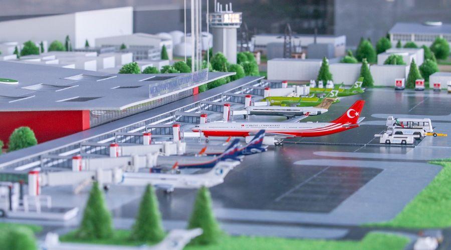 Макет аэровокзального комплекса Краснодара ©Фото из группы «Аэропорты Юга», vk.com/southairports