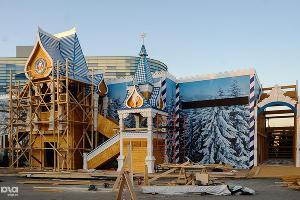 Строящаяся резиденция Деда Мороза в Олимпийском парке ©Нина Зотина, ЮГА.ру