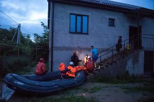 Подтопление в селе Левокумка Ставропольского края ©Фото Антона Подгайко, Юга.ру