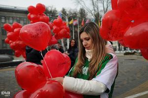 "Флешмоб ""Мы вместе"" в Краснодаре ©Елена Синеок. ЮГА.ру"