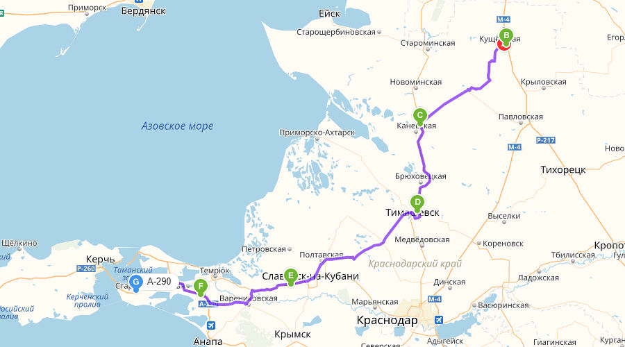 Самый короткий маршрут ©Скриншот с сервиса «Яндекс.Карты»